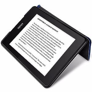 Capa para Kindle Paperwhite WB Origami Estilo Tecido Preta Deitado