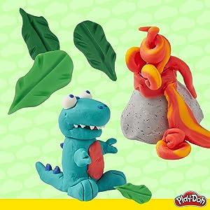 play doh dinosaur theme pack