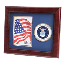 Black METAL Frame Proud To Have Served In The United States Coast Guard 220