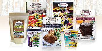 namaste foods gluten free products baking coatings pasta meals soups cake cups scratch ingredients