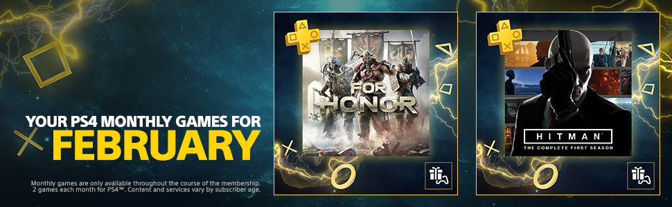 ps plus, ps4, for honor, hitman