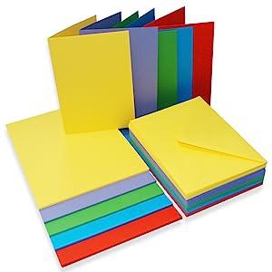 Craft UK 281 C6 tarjeta y sobres-Bright paquete de 50