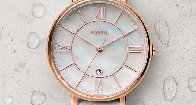 Fossil Damen Analog Quarz Uhr mit Edelstahl Armband