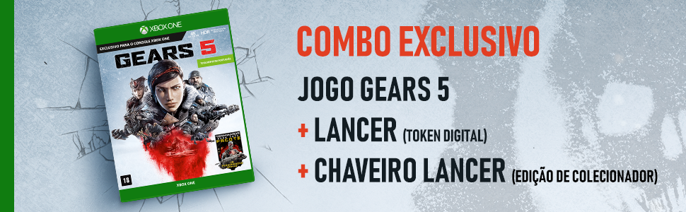 Gears Gears5 Console XBox One Videogame Game DLC Lancer Chaveiro Game Jogo