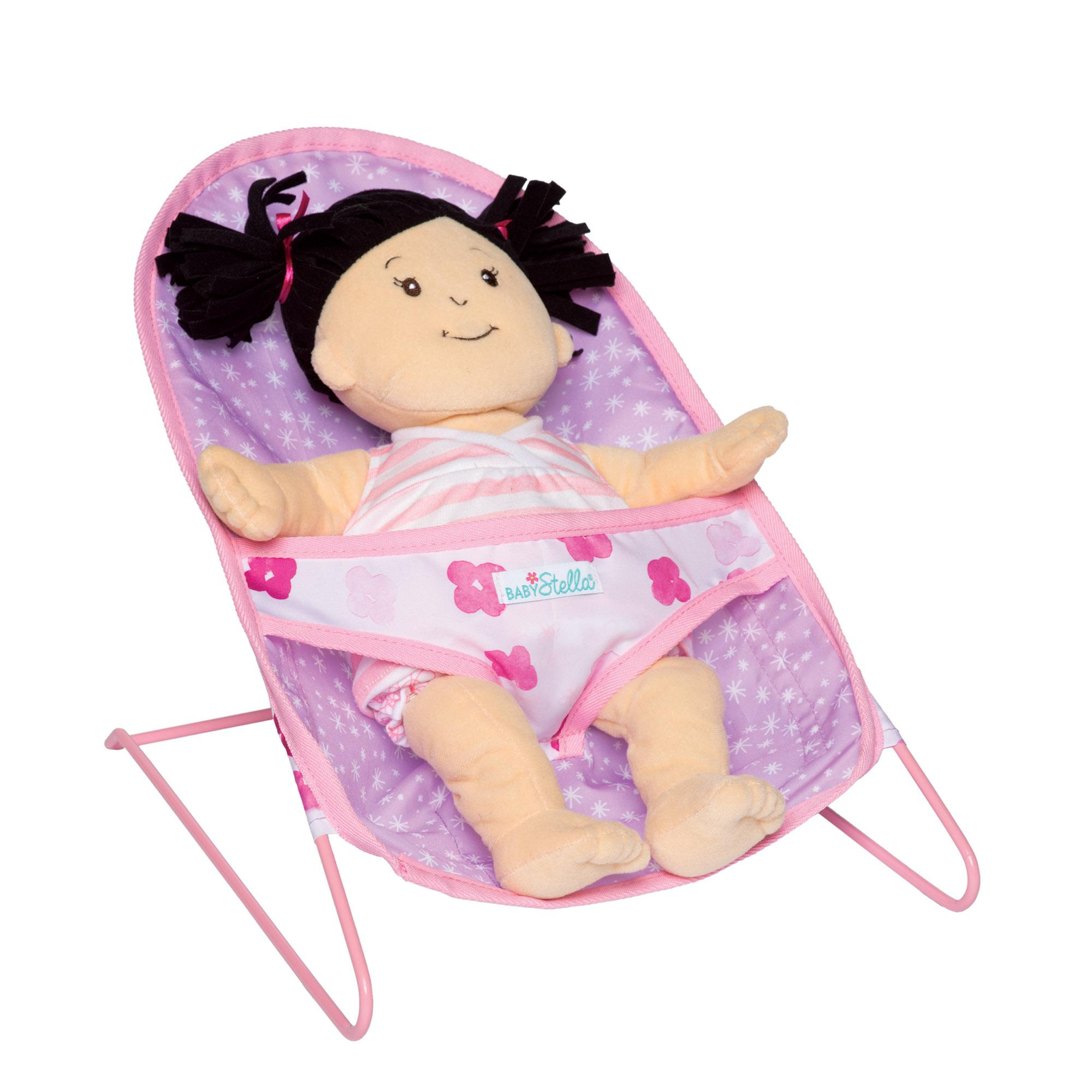 Manhattan Toy Baby Stella Bouncy Chair Nurturing Doll