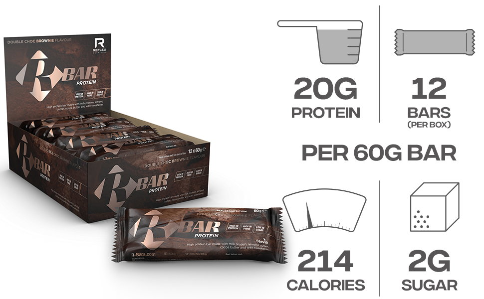 Reflex Nutrition Reflex Nutrición R-Bar Barra De Proteínas 20 ...