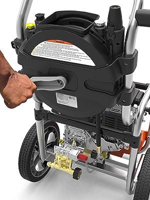 pressure washer;power washer;reel;hose;sun joe;ryobi;electric;gas;mobile;jet;nozzle;wand;gun