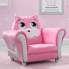 kids chair seat toddler cat pink girls kids furniture playroom play room delta children animal kitty