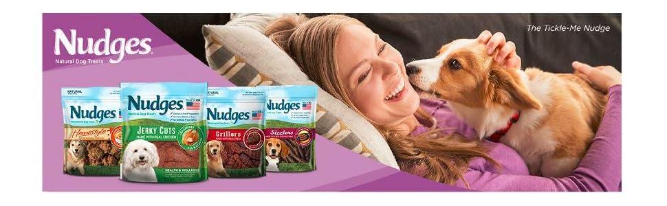 Amazon.com : Nudges Premium Jerky Cuts Dog Treats, Roasted