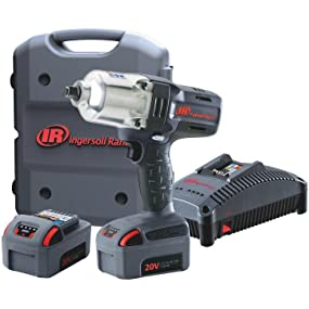 Ingersoll Rand W7150-K2 High-Torque Impact Wrench Kit, 2 Batteries