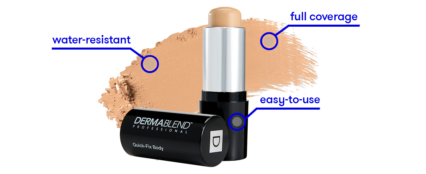 dermablend quick fix body foundation stick makeup face makeup body makeup body foundation foundation