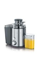 SEVIR ES 3566 Licuadora con recipiente de zumo, 400 W, 500 ...
