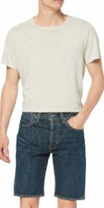 levi's; levis; 501; shorts; jeans; hemmed; short; above; knee; regular; button fly;