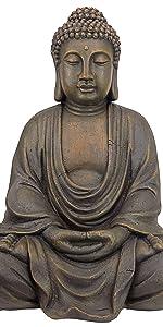 Design Toscano Bouddha Méditatif du Grand Temple Statue de Jardin, Moyen 66 cm, polyrésine