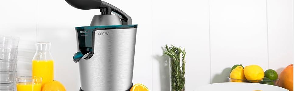 EssentialVita PowerAdjust 600 elektrische sinaasappelpers, zwart