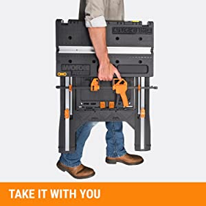 WORX Pegasus Multi-Function Work Table and Sawhorse with Quick Clamps and Holding Pegs – WX051 18
