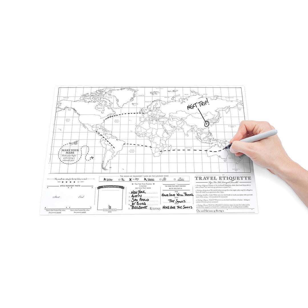 Amazon Com Scratch Map Travel Map Travel Sized