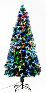 Homcom Arbol de Navidad Altura 150 cm + Estrella y 180 Luces LED ...