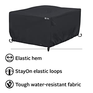 Classic Accessories Patio Square Fire Pit Table Cover