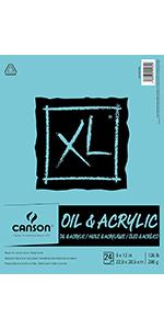 Oil, Acrylic Paper