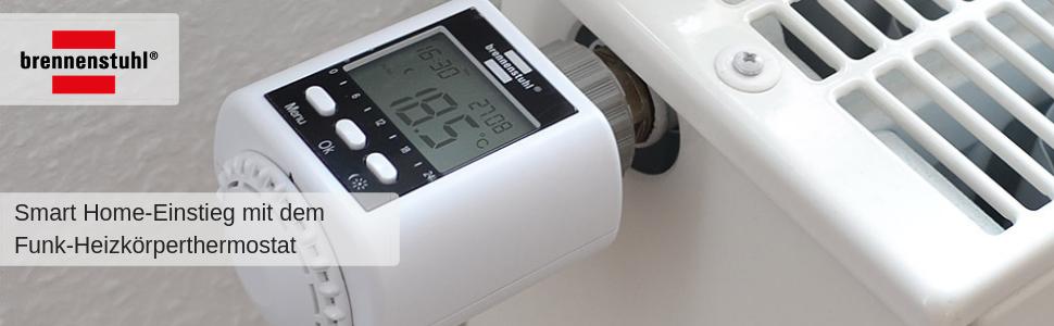 brennenstuhl funk heizk rperthermostat fht 433 heizungsthermostat per fernbedienung oder app