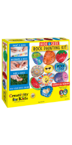 rock painting kit, kids crafts, crafts for kids, crafts for girls, summer crafts, gifts for kids