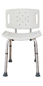 Tool Free Shower Bench with Back