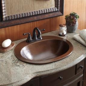 Attractive Copper, Sink, Sinkology, Bath, Bathroom, Drop In, Seville, BOD0903BC