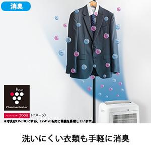 プラズマクラスター 消臭 洗いにくい衣類 背広 除湿 衣類乾燥