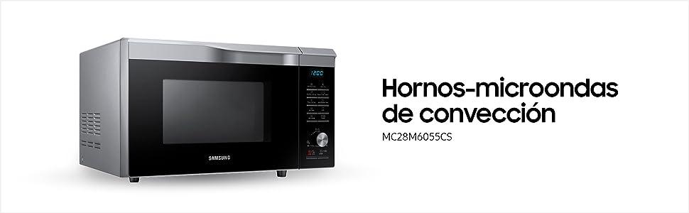Samsung MC32K7055CT/EC - Horno-Microondas con grill, 32 litros, 2100 W, interior de cerámica, tecnología HotBlast y función horno hasta 200º C, color ...
