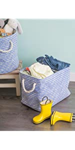 dii fabric storage bins, storage basket woven, closet organization, cube storage, toy organizers