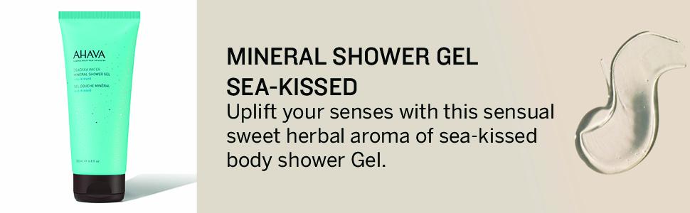 Ahava, Mineral, shower, gel, sea, kissed, dead sea, shower, body, sweet, armoa, herbal, skin care