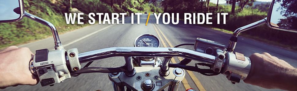 we start it you ride it