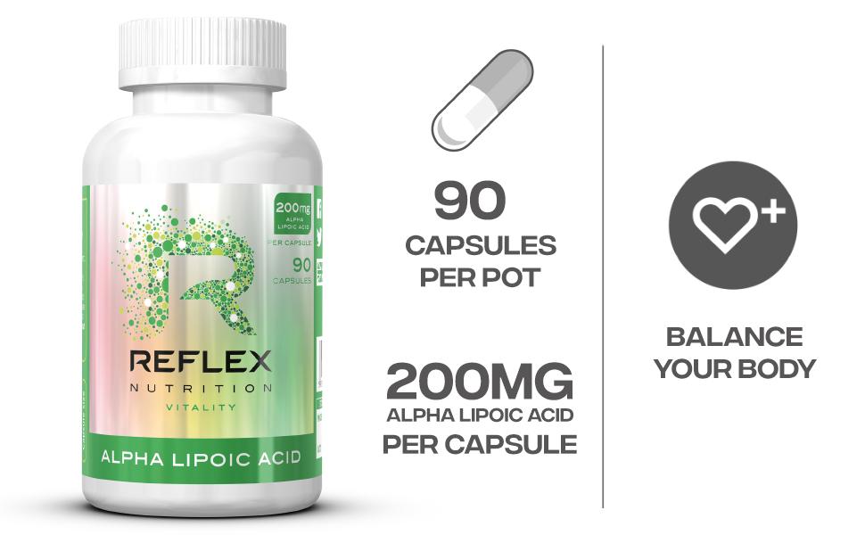 Reflex Nutrition Alpha Lipoic Acid Standard - 90 Cápsulas ...