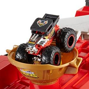 Hot Wheels Monster Trucks Carreras con cuesta abajo, pistas de ...