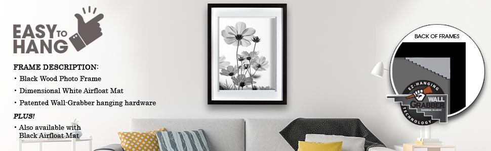 Amazon Com Gallery Solutions 14x18 Black Wood Wall Frame