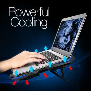 Base de refrigeración para portátiles,4 ventiladores,Led azul