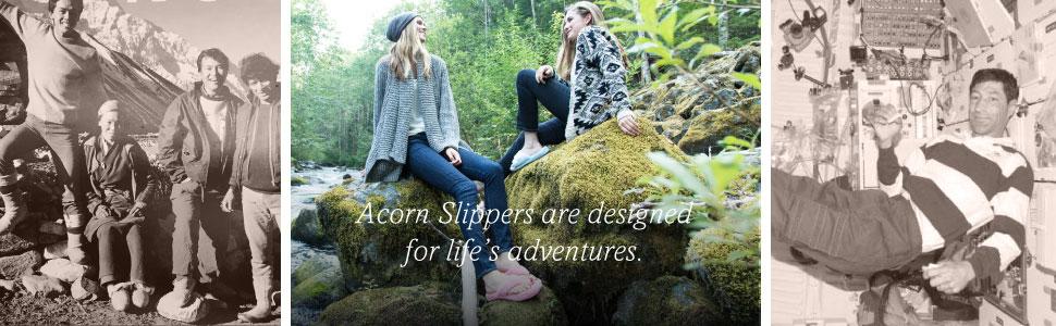 acorn, acorn slippers, slippers, women's slippers, acorn spa, spa slide, spa thong, house slippers