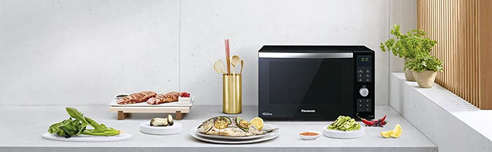 Panasonic NN-DF383 - Microondas Horno con Grill Combinado (1000 W ...