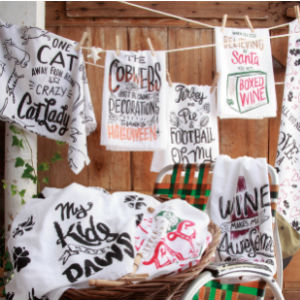 funny halloween fall holiday dish tea kitchen towel gift decor funny saying primitives by kathy