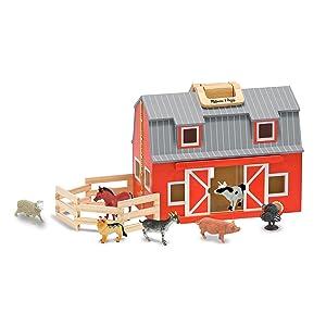 farm;travel;portable;compact;doll;house;boys;girls