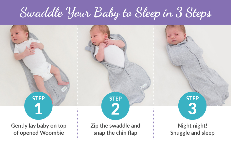 swaddle your baby to sleep in 3 easy steps.