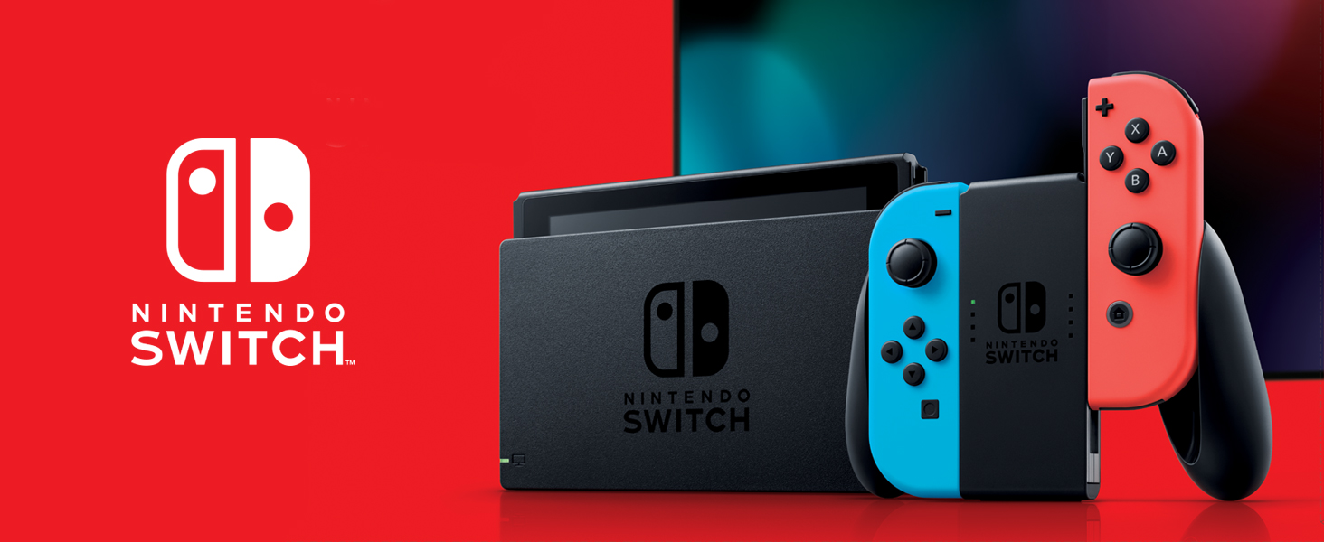 Amazon com: Nintendo Switch – Neon Red and Neon Blue Joy-Con