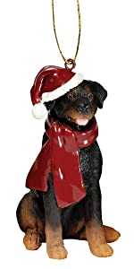 Christmas Ornaments - Xmas Rottweiler Holiday Dog Ornaments