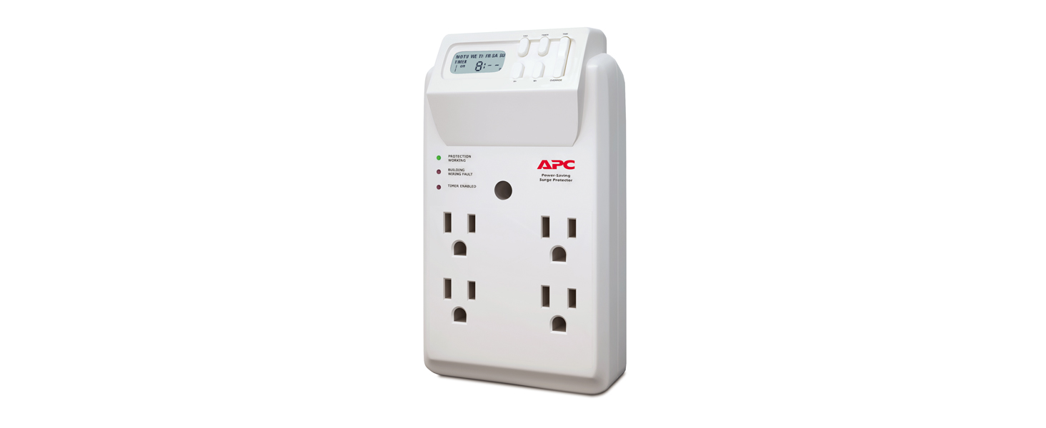 APC Wall Surge Protector 1080 Joule Surge Protector with Tw 4 Rotating Outlets