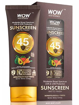 WOW Skin Science Matte Finish Sunscreen Lotion SPF 45