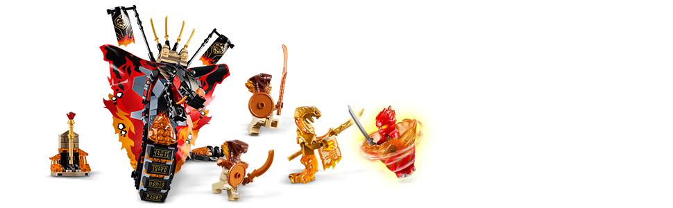 LEGO Ninjago - Colmillo de Fuego Set de construcción de Aventuras Ninja, incluye Minifiguras de Guerreros y una Serpiente Escupefuego, Novedad 2019 ...