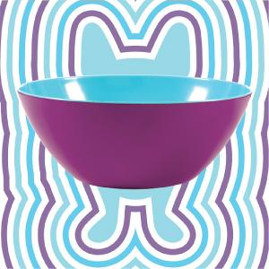 76ce553da199e Our large contemporary two-tone bowl is great for salads, chips, popcorn  while adding a splash of color.