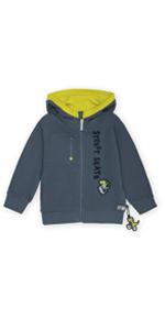Mini sudadera con capucha para niños pequeños, color amarillo y azul, para verano, primavera y guardería.