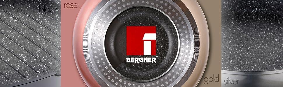 Bergner Q2656 Sarten 24x4.5cm aluminio forjado inducción Neon black ...